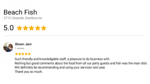 Beach Fish five star review